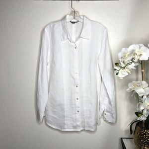 Tommy Bahama 100% Linen Long Sleeve Button Down